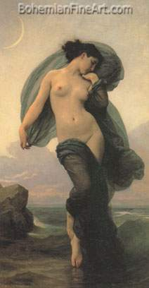 Adolphe-William Bouguereau, Evening Mood Fine Art Reproduction Oil Painting