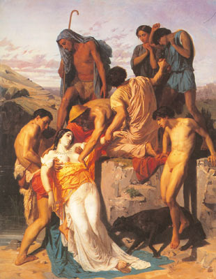 Adolphe-William Bouguereau, Zenobia Found by Shepherds on the Banks Fine Art Reproduction Oil Painting