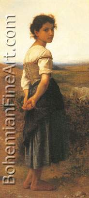 Adolphe-William Bouguereau, The Young Shepherdess Fine Art Reproduction Oil Painting