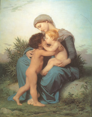 Adolphe-William Bouguereau, Fraternal Love Fine Art Reproduction Oil Painting