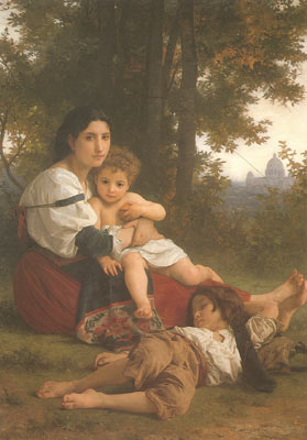 Adolphe-William Bouguereau, Rest Fine Art Reproduction Oil Painting