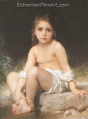 Adolphe-William Bouguereau, Child at Bath Fine Art Reproduction Oil Painting