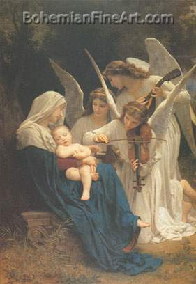 Adolphe-William Bouguereau, Song of the Angels Fine Art Reproduction Oil Painting