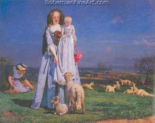 Ford Maddox Brown, The Pretty Baa-Lambs Fine Art Reproduction Oil Painting