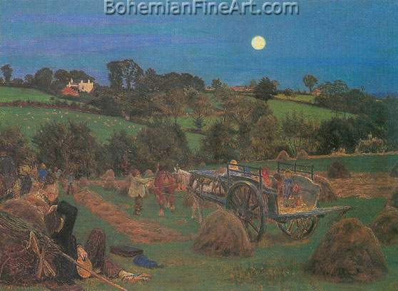 Ford Maddox Brown, The Hayfield Fine Art Reproduction Oil Painting