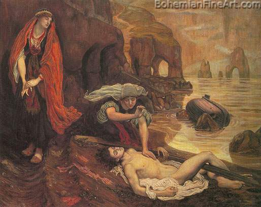 Ford Maddox Brown, Don Juan Found on the Beach by Haidee Fine Art Reproduction Oil Painting