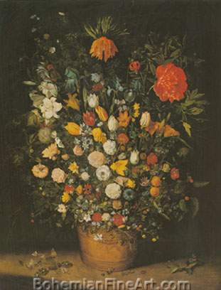 Jan Brueghel the Elder, Bouquet Fine Art Reproduction Oil Painting