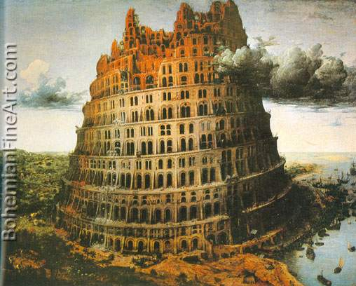 Pieter Bruegel the Elder, The Tower of Babel (II) Fine Art Reproduction Oil Painting