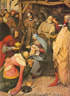 Pieter Bruegel the Elder, The Adoration of the Kings Fine Art Reproduction Oil Painting