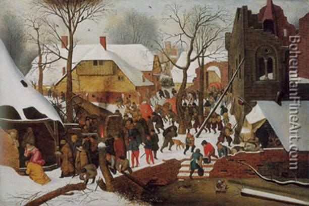 Pieter Brueghel the Younger, The Adoration of the Magi Fine Art Reproduction Oil Painting