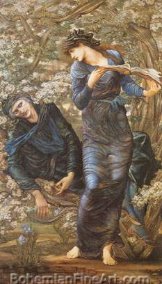 Edward Burne-Jones, The Beguiling of Merlin Fine Art Reproduction Oil Painting