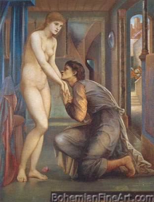 Edward Burne-Jones, The Soul Attains Fine Art Reproduction Oil Painting