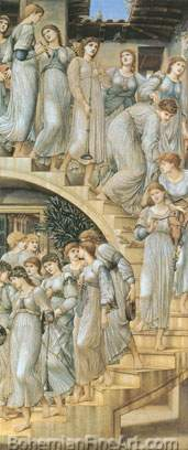 Edward Burne-Jones, The Golden Stairs Fine Art Reproduction Oil Painting