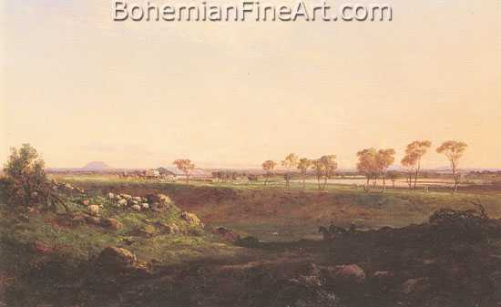 Louis Buvelot, Mount Fyans Woolshed Fine Art Reproduction Oil Painting