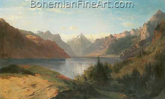 Alexandre Calame, Four Cantons Lake Fine Art Reproduction Oil Painting