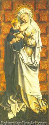 Robert Campin, Virgin and Child Fine Art Reproduction Oil Painting