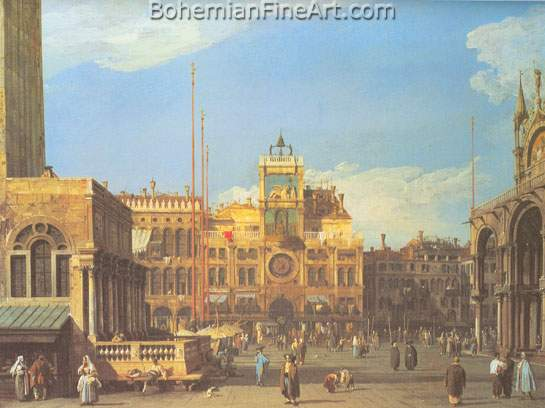 Giovanni Canaletto, Piazza San Marco: the Clocktower Fine Art Reproduction Oil Painting
