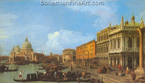Giovanni Canaletto, The Molo: Looking West Fine Art Reproduction Oil Painting