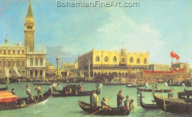 Giovanni Canaletto, The Bucinto at the Molo on Ascension Day Fine Art Reproduction Oil Painting