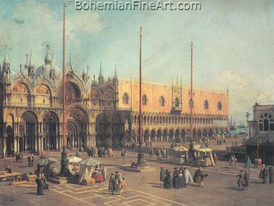 Giovanni Canaletto, Piazza San Marco: Looking South East Fine Art Reproduction Oil Painting