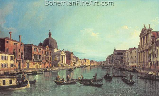 Giovanni Canaletto, Grand Canal Fine Art Reproduction Oil Painting