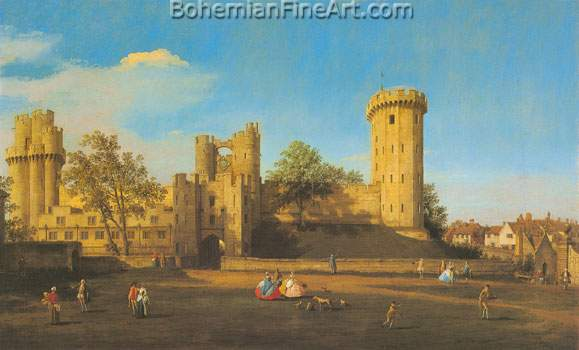 Giovanni Canaletto, Warwick Castle: The East Front Fine Art Reproduction Oil Painting