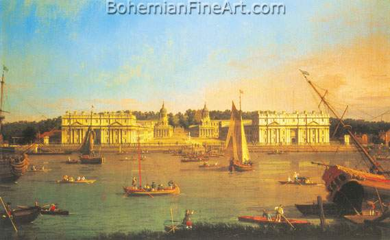 Giovanni Canaletto, London: Greenwich Hospital Fine Art Reproduction Oil Painting