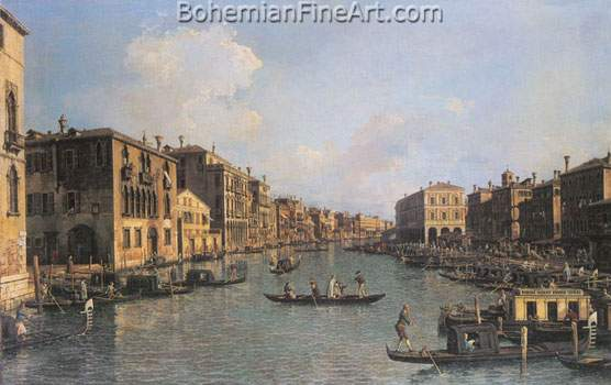 Giovanni Canaletto, Grand Canal: South East Fine Art Reproduction Oil Painting
