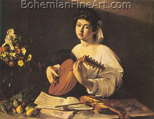 Michelangelo Caravaggio, The Lute Player Fine Art Reproduction Oil Painting