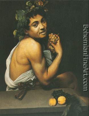 Michelangelo Caravaggio, Satyr with Grapes Fine Art Reproduction Oil Painting