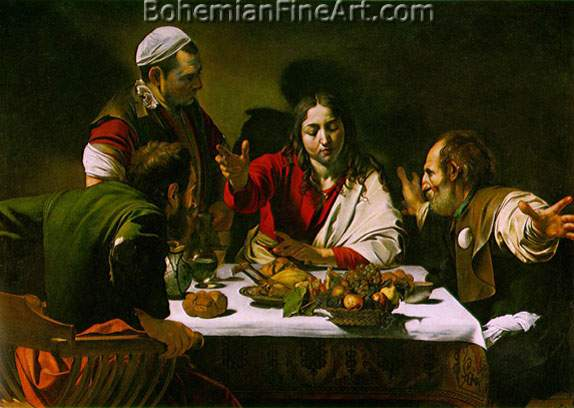 Michelangelo Caravaggio, Supper in Emmaus Fine Art Reproduction Oil Painting