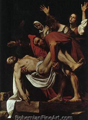 Michelangelo Caravaggio, The Entombment of Christ Fine Art Reproduction Oil Painting