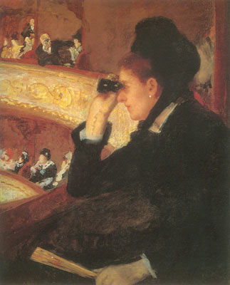Mary Cassatt, In the Loge, at the Opera Fine Art Reproduction Oil Painting