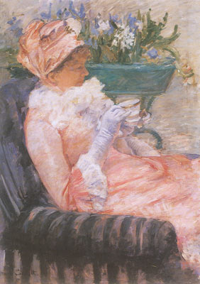 Mary Cassatt, The Cup of Tea Fine Art Reproduction Oil Painting