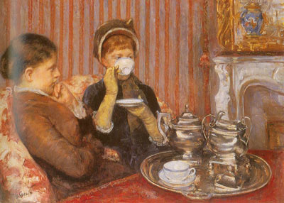 Mary Cassatt, The Tea Fine Art Reproduction Oil Painting
