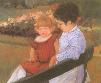 Mary Cassatt, In the Park Fine Art Reproduction Oil Painting