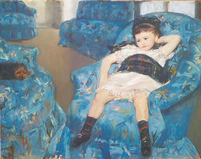Mary Cassatt, Little Girl in a Blue Armchair Fine Art Reproduction Oil Painting