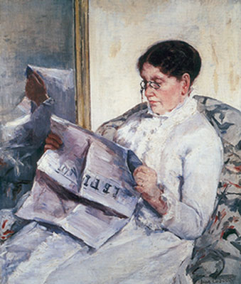 Woman Reading Le Figaro