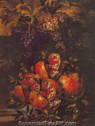 Michelangelo Cerquozzi, Still Life with Fruit and Figs Fine Art Reproduction Oil Painting