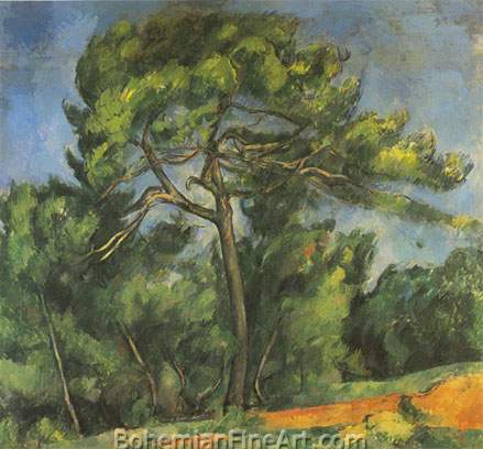 Paul Cezanne, The Great Pine Fine Art Reproduction Oil Painting