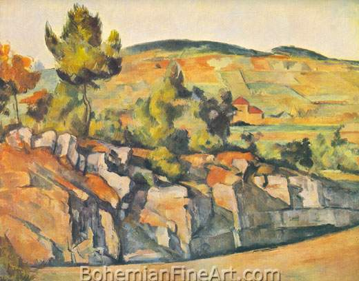 Paul Cezanne, Mountains in Provence Fine Art Reproduction Oil Painting