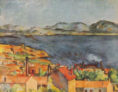 Paul Cezanne, The Bay from L'Estaque Fine Art Reproduction Oil Painting