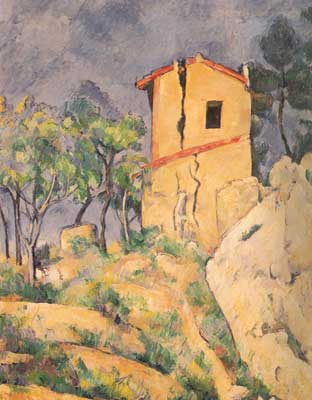 Paul Cezanne, The House with Cracked Walls Fine Art Reproduction Oil Painting