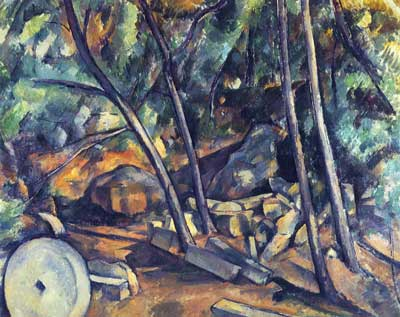 Paul Cezanne, Woods with Millstone Fine Art Reproduction Oil Painting
