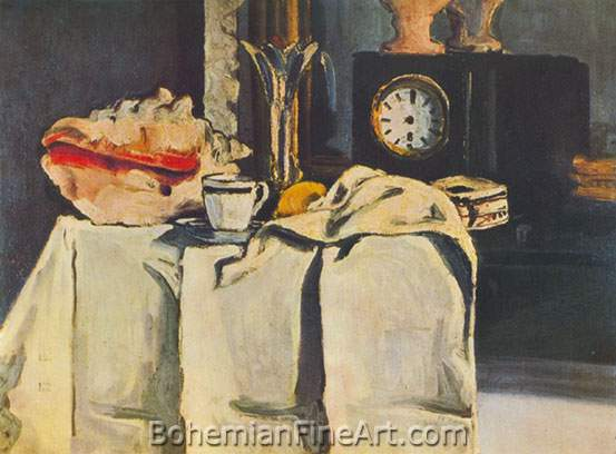 Paul Cezanne, The Black Clock Fine Art Reproduction Oil Painting