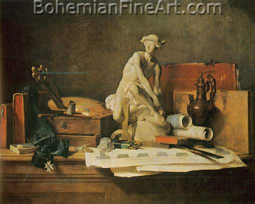 Jean-Baptiste-Simeon Chardin, The Attributes of the Arts Fine Art Reproduction Oil Painting