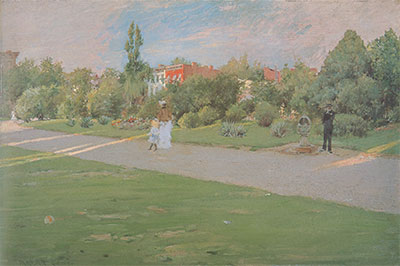 William Merritt Chase, Park in Brooklyn Fine Art Reproduction Oil Painting