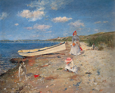 William Merritt Chase, A Sunny Day at Shinnecock Bay Fine Art Reproduction Oil Painting