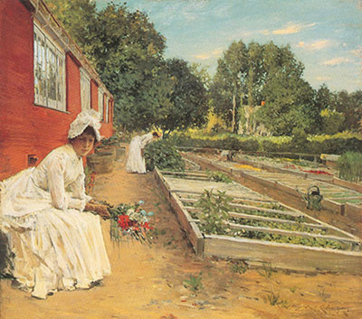 William Merritt Chase, The Nusery Fine Art Reproduction Oil Painting