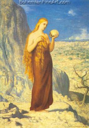 Pierre Puvis de Chavannes, The Magdalene Fine Art Reproduction Oil Painting